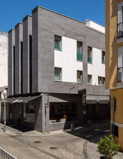 moderno edificio de oficinas en Mérida